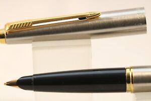 Vintage-1997-Parker-45-Flighter-DeLuxe-Broad-Fountain-Pen-NOS