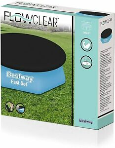 BESTWAY POOL COVER 8ft Foot / 2.44m FAST SET SWIMMING ROUND PADDLING