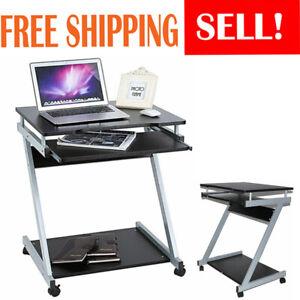 Details About Small Computer Desk Portable Laptop Pc Study Table Compact Workstation Desktop