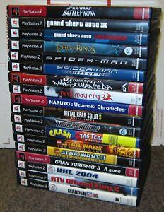 18-PS2-Playstation-2-Games-Star-Wars-Battlefront-Crash-Racing-Spider-Man-K11