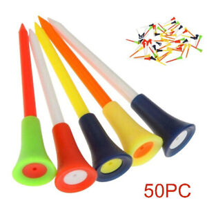 50Pcs-Set-Golf-Tees-With-Cushion-Top-83MM-Large-PVC-Tee-Multi-Color-Accessories