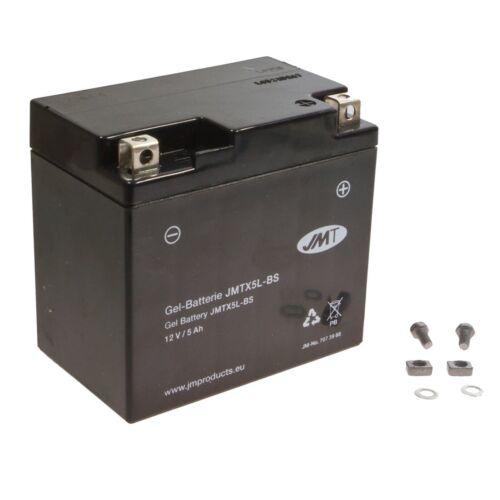 Jmt Gel Batterie ytx5l-bs BETA RR 450 Enduro Racing Année de construction 2005-2009