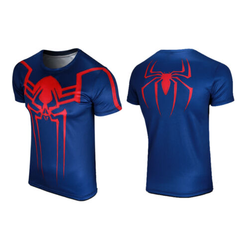 Men Superhero Avenger Compression Base Layer T-shirt Cycling Shirts Jersey Tops