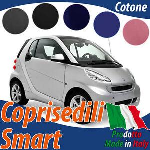 COPRISEDILI AUTO SMART 1a SERIE W450 FORTWO ECOPELLE GRIGIO CHIARO