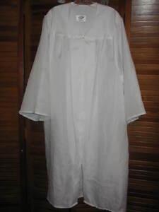 White Graduation Gown