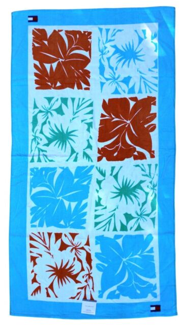 Adult 66 X 35 Inch Tropical Prints 2019 Fashion Tommy Hilfiger Plush Beach Towel