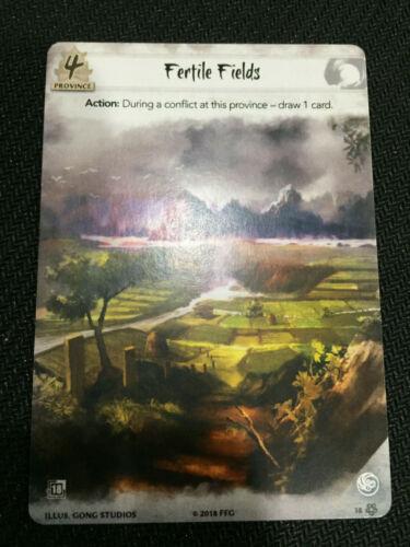 1x Fertile Fields L5R Stronghold 2 Promo Legend of Five Rings
