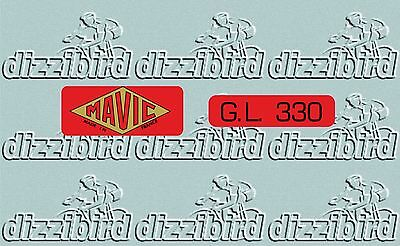 /'Red/' version x 2 sets VINTAGE G.L 330 Rim decals perfect for renovations
