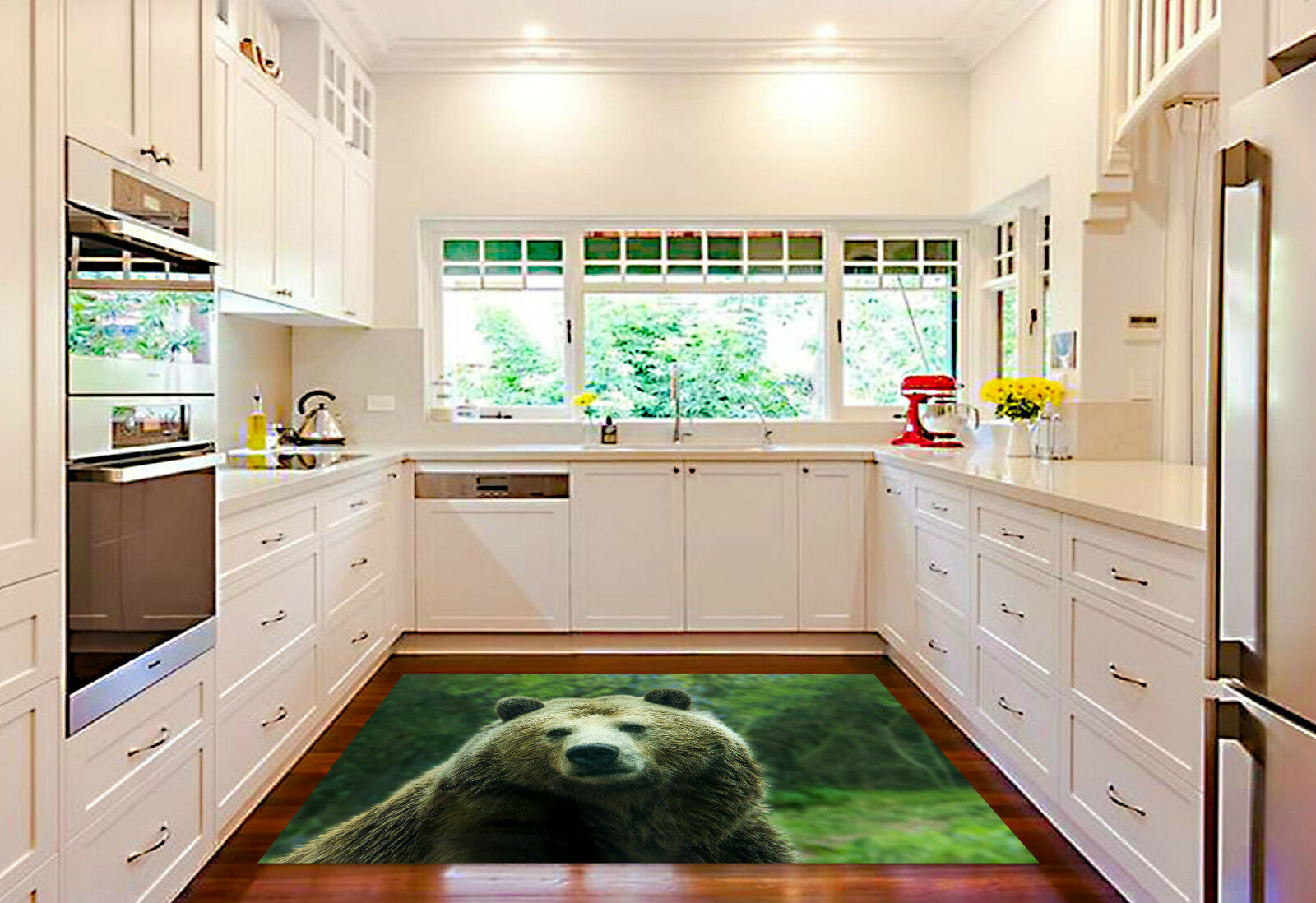 3D Innocent Bear Kitchen Mat Floor Murals Wall Print Wall Deco AJ WALLPAPER CA