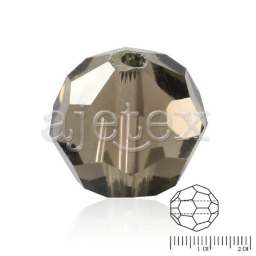 12x12mm Flat Round Faceted Rondelle Polygon DIY Crystal Beads Fit Jewelry