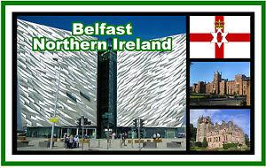 BELFAST, NORTHERN IRELAND, UK - SOUVENIR NOVELTY FRIDGE MAGNET - SIGHTS - GIFTS