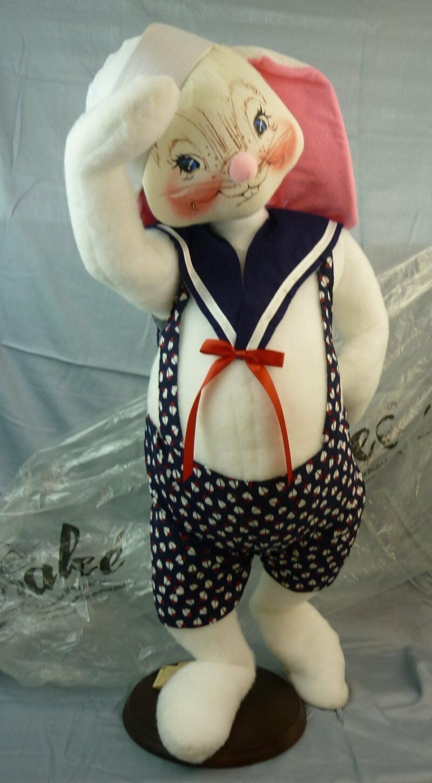 Annalee Dolls 30  Sailor Boy Bunny 2000 Signed 0823 AL318