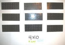 4x10 Black Plates 4 LEGO 10237 7019 5590 7498 2507 4403 7181 10188 4954 10227