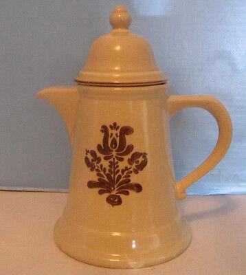 Pfaltzgraff Village Vtg Large Coffee Pot or Tea Pot Brown Tan Stoneware EUC