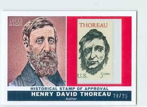 HENRY-DAVID-THOREAU-2010-TOPPS-MAGIC-HISTORICAL-STAMP-OF-APPROVAL-RELIC-25