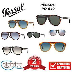 Occhiali-da-sole-PERSOL-UOMO-649-0649-polarizzati-Occhiale-54-56-52-specchio