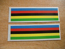 Cycling World Champion Rainbow Stripe Decals - 110x30mm (2 stickers)