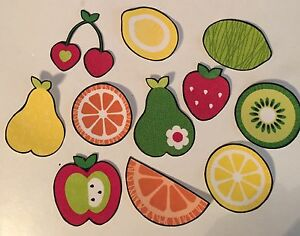 Colorful-Summer-Lemons-Berries-Cherries-Iron-On-Fabric-Appliques