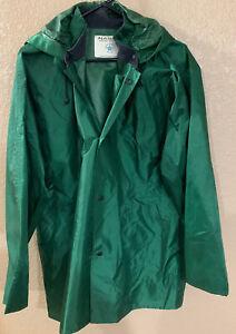 Mens-Nasco-Light-Rain-Jacket-Size-Medium-Color-Dark-Green