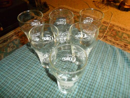 Drinking Glasses Set Of 6 Vintage 75th Anniversary COCA COLA 12 oz