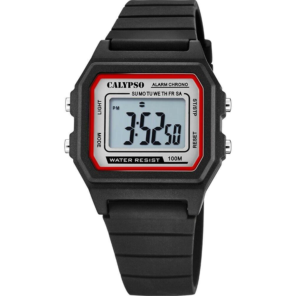 Reloj Calypso Digital Crush K5805/4 cuarzo color negro