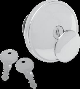 Chrome 0703-0229 Drag Specialties NonVented Screw-In Locking Gas Cap