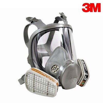 3M 6000 Series Full Face Gas Dust Mask Respirator - 6800 6900 Spray Paint