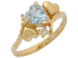 10k-or-14k-Yellow-Gold-Heart-Simulated-Aqua-and-White-CZ-March-Birthstone-Ring