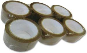 Rouleau Ruban Scotch d'Emballage Adhésif Marron Packatape Lot de 6 - 48mm x 66m
