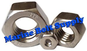 Type 316 Stainless Steel Hex Nuts (Sizes 4-40 to 1/2-13)