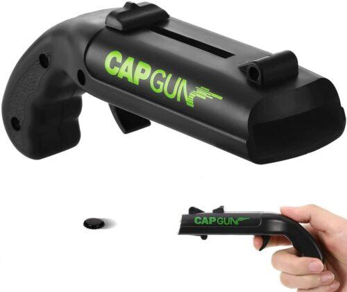 NEW Firing Cap Gun Creative Flying Cap Launcher Bottle Beer Opener