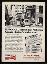 3w597/ Alte Reklame - von 1983 - TWA - Eurocard