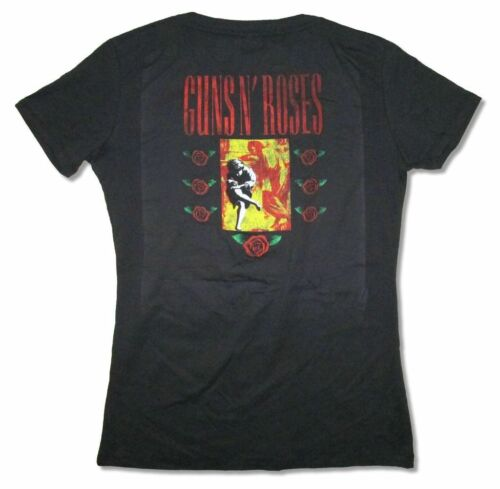 Guns N Roses Top Hat Use Your Illusion Juniors Black V Neck T Shirt New Official