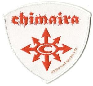 CHIMAIRA-logo-2004-WOVEN-SEW-ON-PATCH-official-no-longer-made-RARE-shaped