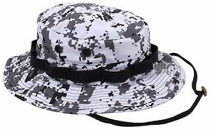 b37713a5dd7 City Digital Camouflage Boonie Hat - Black   White Camo Bucket Hats ...