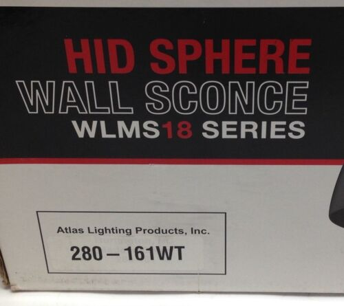 Atlas Wall Sconce HID Outdoor Round Sphere Light Fixture Housing 280-161WT White