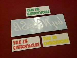 Details about 4 Nike SB Stickers The SB Chronicles Print On Clear Vinyl  Green Red Yellow