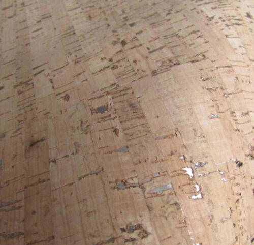 Liège Tissu//liège cuir naturel avec argent inclusions