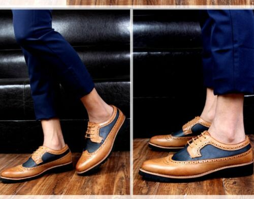 Richelieu à homme British style robe formelle Casual Casual Bout D/'Aile Chaussures Business A361