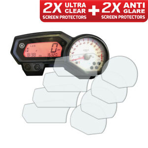 4-x-YAMAHA-FZ1-Fazer-Dashboard-Screen-Protectors-2-x-Clear-amp-2-x-Anti-Glare
