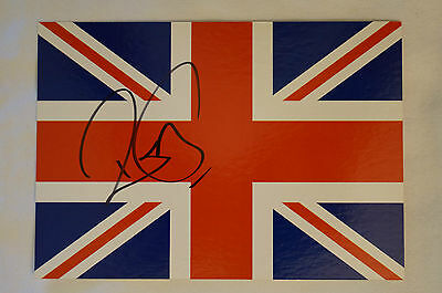 ROBERT PLANT - Union Jack Postcard - Personally signed by Rober Plant w/ COA