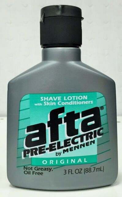 Afta Original Pre Electric Shave Lotion with Skin Conditioner By Mennen 3 oz