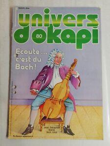 N20 Rivista Universo Okapi N°80 Ascolto C Del Bach, Jean-Sébastien Bach