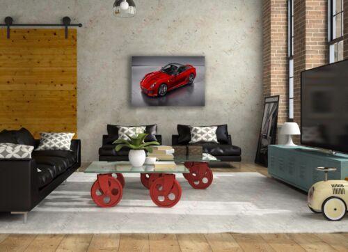 Ferrari 599 GTO Sports Car Poster Canvas Print Art Home Decor Wall Art
