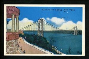 Bridge-postcard-New-York-City-NY-George-Washington-Bridge-vintage