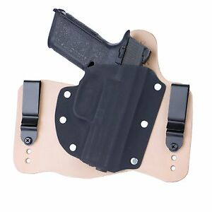 Details about FoxX Holsters Leather & Kydex IWB Hybrid Holster FNS 9/40  Natural Right Tuckable