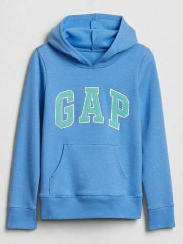 NWT Gap Kids Girls Logo Hoodie Sweatshirt blue aqua  you pick size