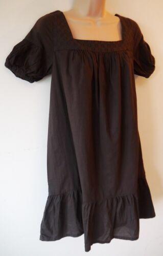 Femme Blouse Robe Taille XS S M Neuf Femmes Old Navy Chocolat en Coton Marron Bnwt