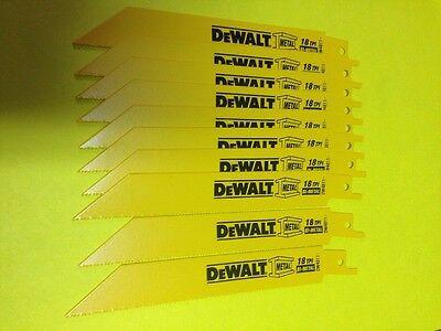 Dewalt  18 Tpi Bi-metal Sawzall Reciprocating Saw Blades-10 Pcs