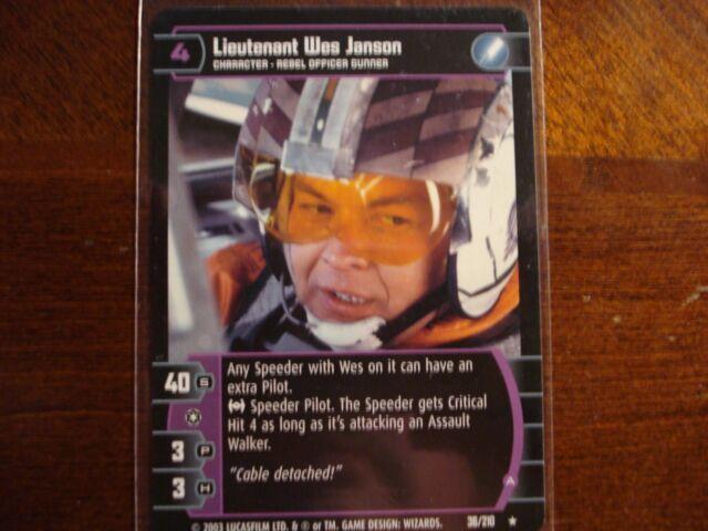 ESB Lieutenant Wes Janson A 36//210  NM//Mint Star Wars TCG